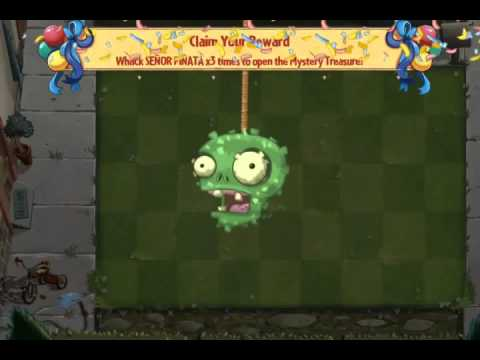 End of Pinata Party Day 3 New Cherry Bomb Costume Plants vs  Zombies 2