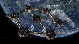 getlinkyoutube.com-Giant Hexagon Fuel Station - Kerbal Space Program