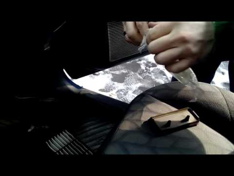 Mitsubishi Pajero Pinin - замена салонного фильтра