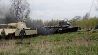 getlinkyoutube.com-Kamienna Góra - Bitwa Czołgów - Wyciąganie Pantery