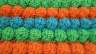 "getlinkyoutube.com-Как связать узор ""шишечки"" или ""попкорн"" крючком? how to crochet popcorn?"