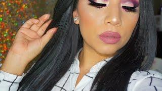 getlinkyoutube.com-Maroon & Purple Makeup   Holiday Inpired