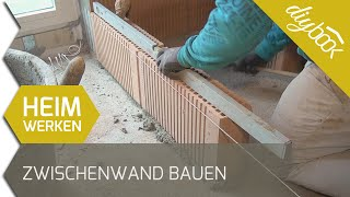 Zwischenwand bauen - Nicht tragende Wand mauern