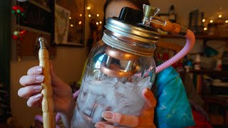 getlinkyoutube.com-Mason Jar Bong by Glass Lung!