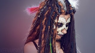 getlinkyoutube.com-DIY Peluca Rastas de Lana · Merino Wool Dreadlock Wig Tutorial · Halloween Voodoo Priestess