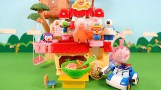 getlinkyoutube.com-뽀로로의 콩순이 라면가게 라면 먹방 ★뽀로로 장난감 애니