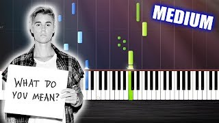 getlinkyoutube.com-Justin Bieber - What Do You Mean - Piano Cover/Tutorial by PlutaX - Synthesia