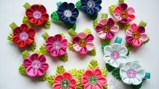 getlinkyoutube.com-Заколка для волос - цветочек.