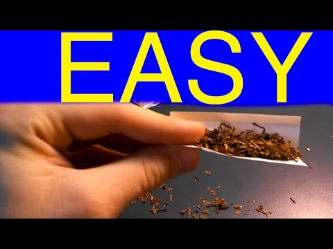 How to roll a cigarette easily