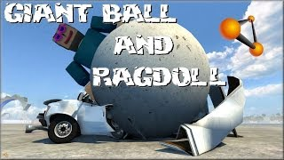 getlinkyoutube.com-BeamNG Drive Crazy 10 Tonne Giant Ball and a Freaky Giant Ragdoll #66