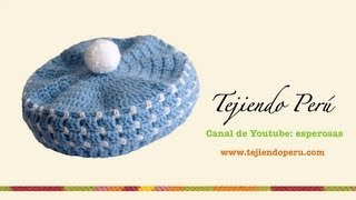 getlinkyoutube.com-Boina en crochet para bebé