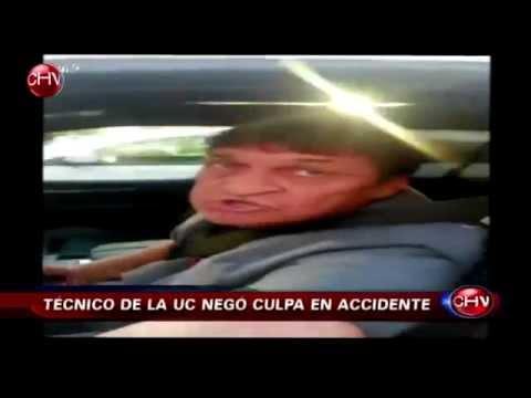 Julio César Falcioni vivió singular accidente contra un ciclista en Las Condes