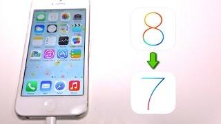 getlinkyoutube.com-How To Downgrade iOS 8 to 7.1.2 - iPhone, iPad & iPod