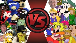getlinkyoutube.com-MLG vs YOUTUBE POOP! TOTAL WAR! (Sanic vs Weegee 2) Cartoon Fight Club Episode 23