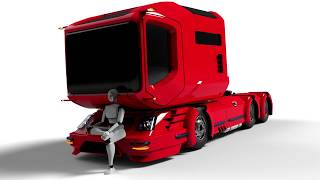 getlinkyoutube.com-Design project of Russian truck MAZ concept car... Концепт нового грузовика МАЗ (AirGo)