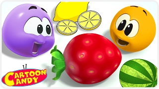 Learn And Play with Colorful Fruits | WonderBalls | Cartoons For Children | Cartoon Candy
