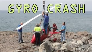 getlinkyoutube.com-Gyroplane Gyrocopter Crash Emergency landing