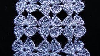 Crochet : Flor 4 Petalos.  Parte 2 de 2