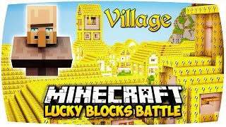 getlinkyoutube.com-MINECRAFT: LUCKY BLOCKS VILLAGE MAP MOD PVP BATTLE CHALLENGE ● DORF AUS LUCKY BLOCKS! (Deutsch/HD)