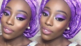 getlinkyoutube.com-How To Tie A Small Gele (Sego) | Nigerian Wedding/Party Guest (Talk Through)