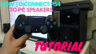 How to connect PC Multimedia Speakers to Sony PS4 console ||| Tutorial+Review