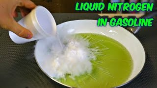 flushyoutube.com-What Happens if you Pour Liquid Nitrogen in Gasoline?