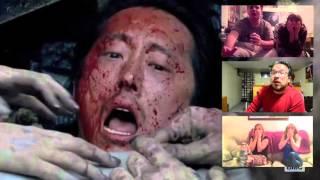 getlinkyoutube.com-The Walking Dead - Glenn's death (reactions compilation)