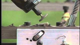 How to Sharpen and Set Band Sawmill Blades - Norwood Band Blade Sharpener and Tooth Setter