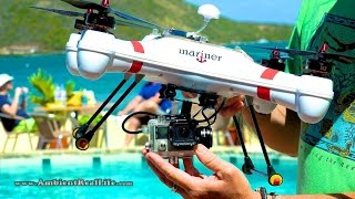 getlinkyoutube.com-WORLD'S FIRST!  'Mariner' Drone with WATERPROOF GIMBAL, FPV & filming in 4K from BVI, CARIBBEAN!