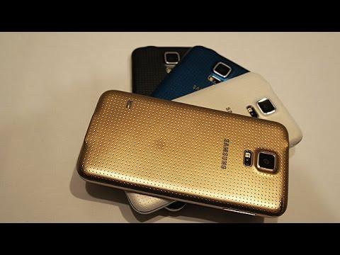فتح صندوق جلاكسي اس5 الذهبي|GalaxyS5Gold Unboxing