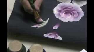 getlinkyoutube.com-Rosa con Pinceladas Decorativas