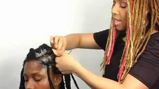 getlinkyoutube.com-Nubian Kinks Two Strand Twist for Locs