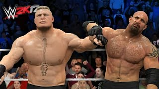 getlinkyoutube.com-Goldberg Loses Against Brock Lesnar At Survivor Series! (WWE 2K17)