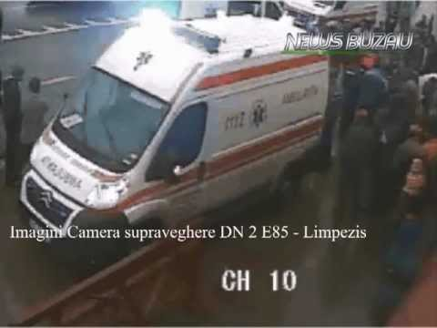 TV NEWS BUZAU - Accident, doua tinere Limpezis - DN2 E85 - 06.04.2013