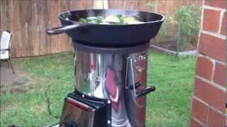 getlinkyoutube.com-SilverFire Rocket Stove Cooking