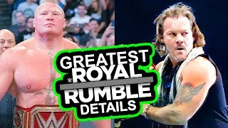 WWE'S GREATEST ROYAL RUMBLE DETAILS! JERICHO OUT AT NJPW?  Going in Raw Pro Wrestling News Podcast
