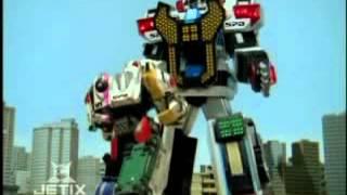 getlinkyoutube.com-Power Rangers S.P.D. - Delta Command Megazord Transformation
