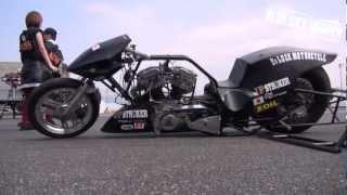 超速い!ハーレーのドラッグレーサー!ブルースカイヘブン2012