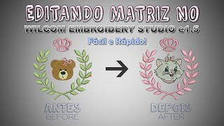 getlinkyoutube.com-Tutorial Wilcom Embroidery Studio e1.5 - Editando Matriz
