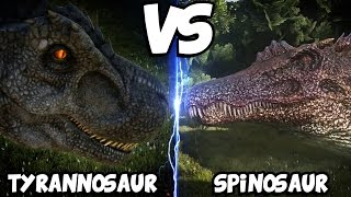 getlinkyoutube.com-ARK Dinosaur Battle Arena | TYRANNOSAURUS VS SPINOSAURUS