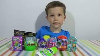 getlinkyoutube.com-Шопкинс Мстители Трешпэк Ниндзя сюрпризы с игрушками распаковка surprise unboxing