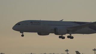 getlinkyoutube.com-Thai Airways Boeing 787-8 HS-TQD Landing and Takeoff [NRT/RJAA]