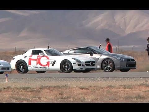 700 HP AMS Alpha 7 GTR vs. 600 HP HG Motorsports SLS AMG Half Mile Drag Race