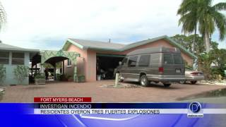 Investigan incendio en Fort Myers Beach