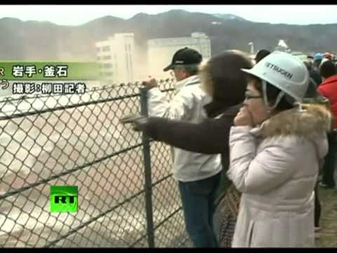 Fresh Footage of Huge Tsunami Waves Smashing Town in Japan   www.awaztv.blogspot.com