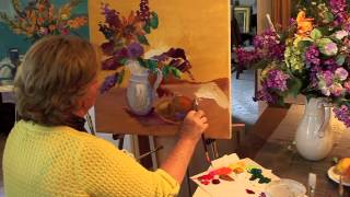 getlinkyoutube.com-Paint Lilacs with Fruit Part 1 of 2 with Marge Kinney