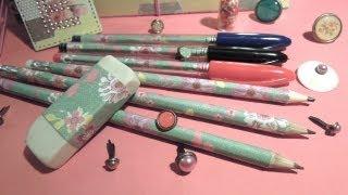 getlinkyoutube.com-Manualidades para la vuelta al cole: Cómo decorar lápices y bolígrafos. TUTORIAL