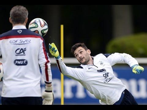 Au coeur du spécifique gardiens de but de l'Equipe de France