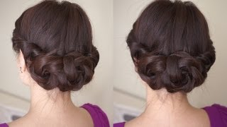 getlinkyoutube.com-Spring Braided Flower Hair Tutorial