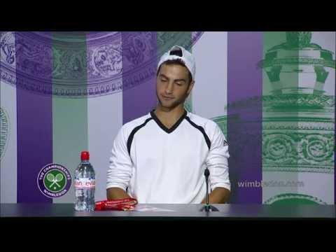 2014 Boys` Singles Champion Noah Rubin Press Conference - Wimbledon 2014